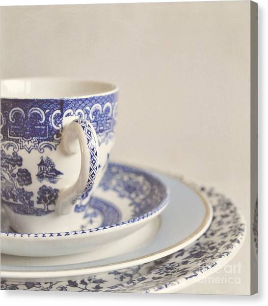 China Cup And Plates Canvas Print
