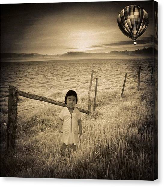 Balloons Canvas Print - China Doll Surreal by Oliver Kuy