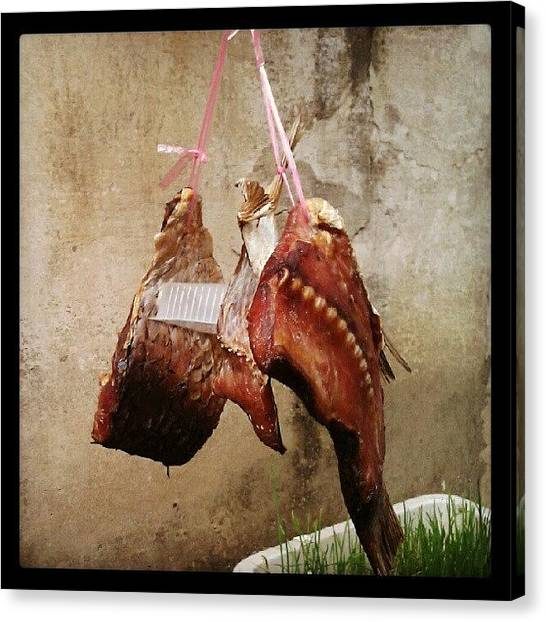 Meat Canvas Print - #china #meat #chinese #larder #hung :0) by Kevin Zoller