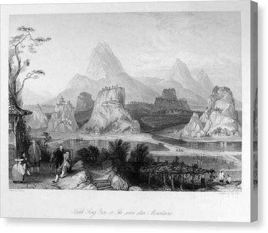 Yen Canvas Print - China: Mountains, C1843 by Granger