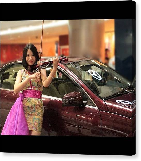 Violins Canvas Print - #china #shanghai #shoppingmall #bmw by Anthony Wang