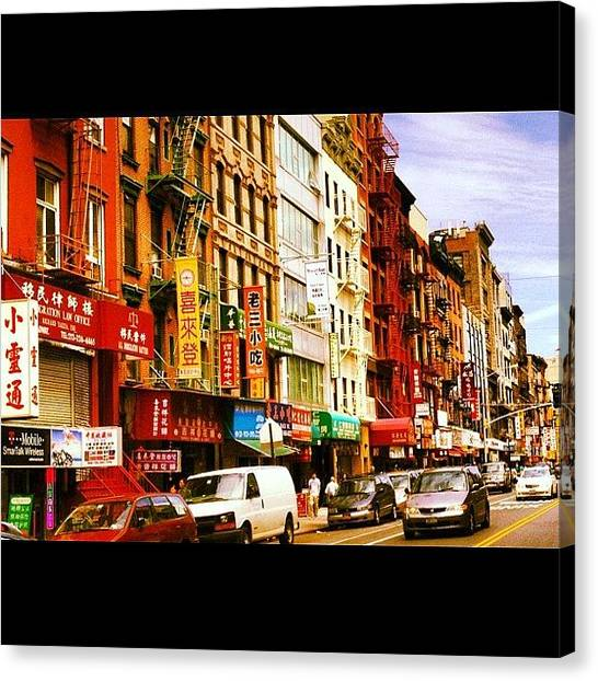 Lucky Canvas Print - China Town - Nyc by Lucas Rocha
