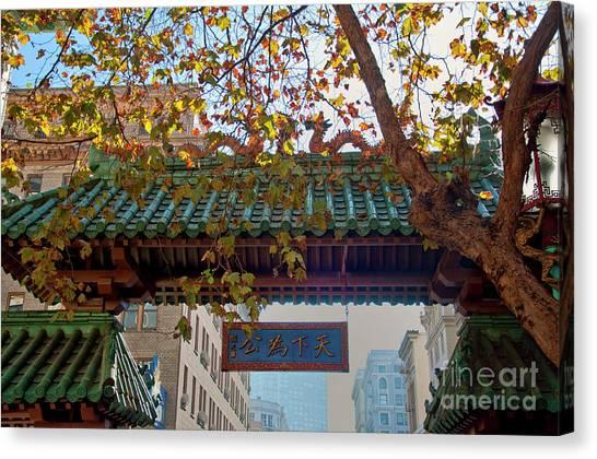 China Town San Francisco Canvas Print by Loriannah Hespe