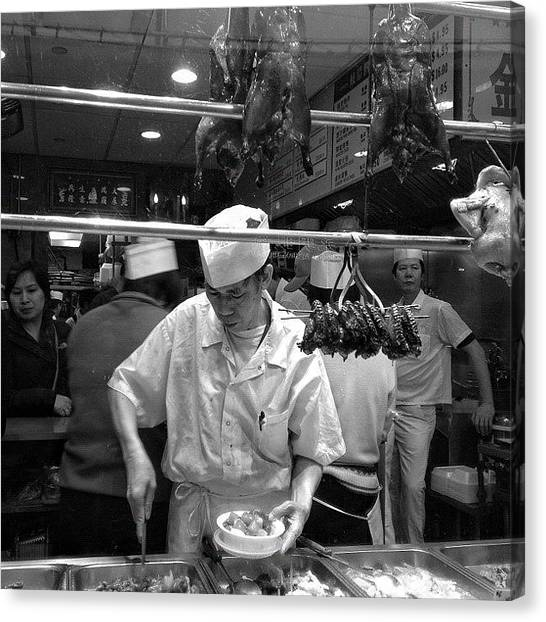 Restaurants Canvas Print - Chinatown - New York by Joel Lopez