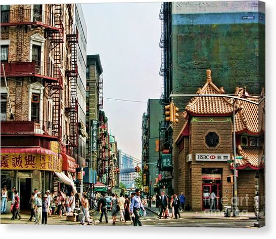 Chinatown-nyc Canvas Print by Anne Ferguson