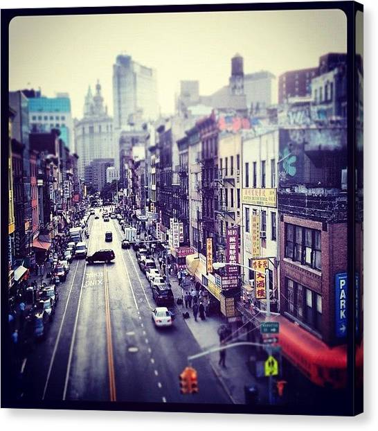 Urban Canvas Print - Chinatown by Randy Lemoine