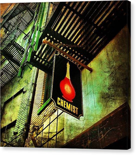 Bar Canvas Print - Chinatown Speakeasy. #nyc #manhattan by Luke Kingma