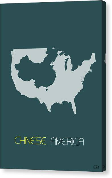 Chinese Canvas Print - Chinese America Poster by Naxart Studio
