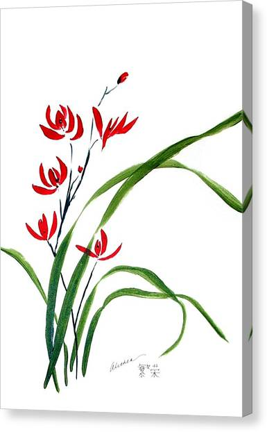 Chinese Wild Orchid 1 Canvas Print
