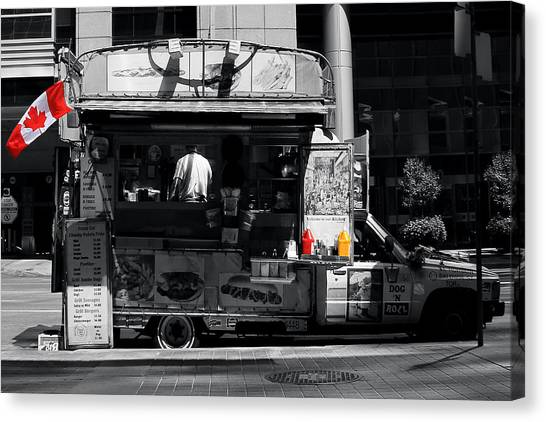 Toronto Maple Leafs Canvas Print - Chip Wagon by Andrew Fare