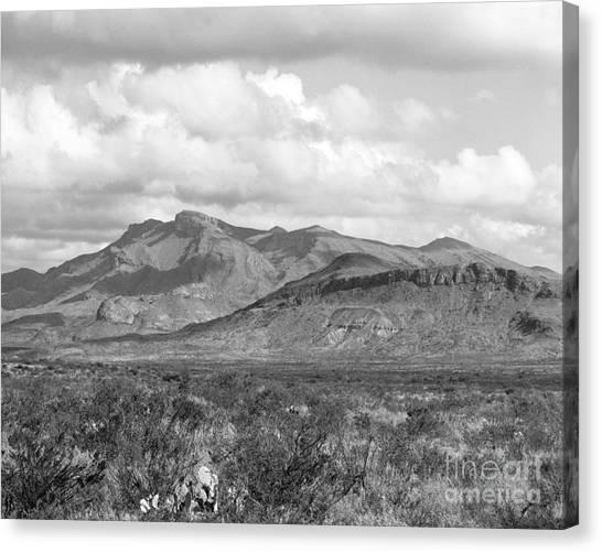 Chisos Mountain View Canvas Print