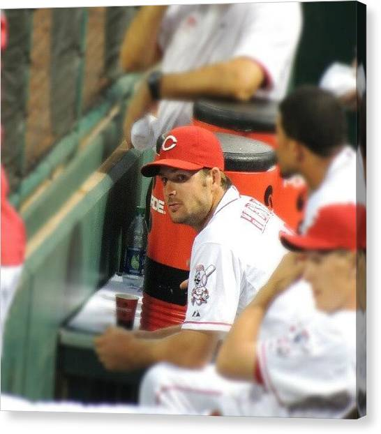 Baseball Teams Canvas Print - Chris Heisey by Reds Pics