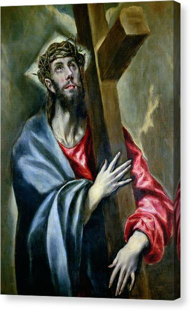 Messiah Canvas Print - Christ Clasping The Cross by El Greco