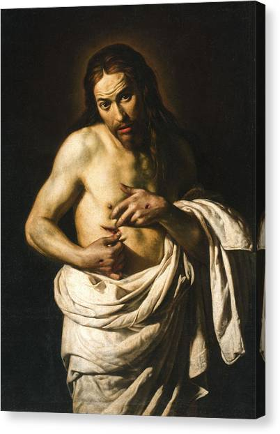 Confession Canvas Print - Christ Displaying His Wounds by Giacomo Galli