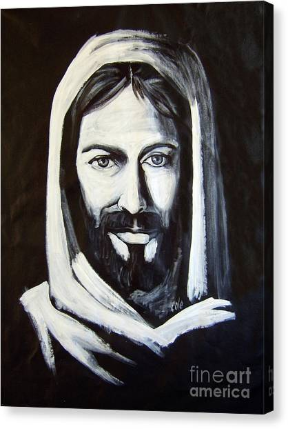 Christ Smiling Canvas Print