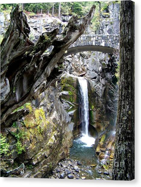 Christine Falls Early Spring Canvas Print