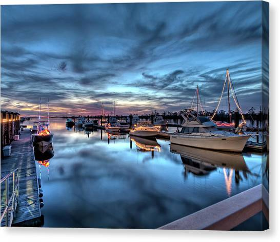 Christmas At The Marina Canvas Print