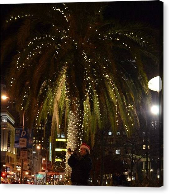 Wind Instruments Canvas Print - Christmas At Union Square by Birgit Zimmerman