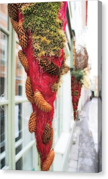 Christmas Ornaments In The Street Canvas Print by Aleksandr Volkov