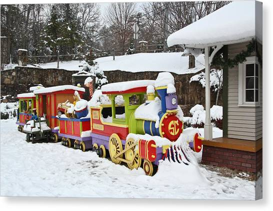 Christmas Train Canvas Print