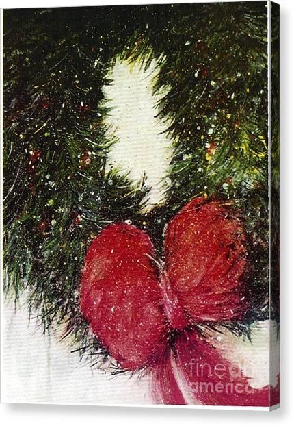 Christmas Wreath Canvas Print
