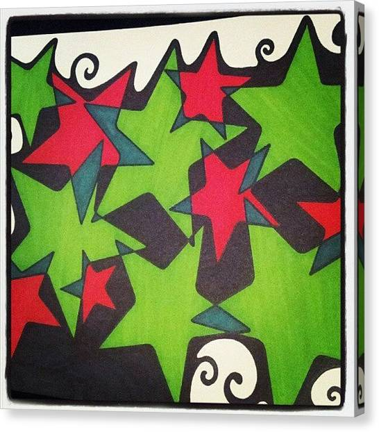 Stars Canvas Print - #christmasstars #christmasart by Mandy Shupp