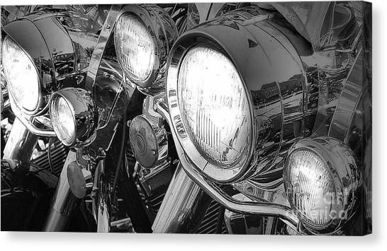 Chrome And Lights Canvas Print by David  Hubbs