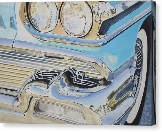 Chrome  Ode To An Olds Canvas Print by Patrick DuMouchel