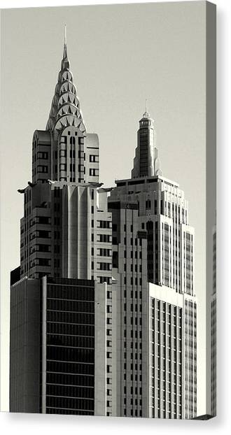 Chrysler And Empire Canvas Print