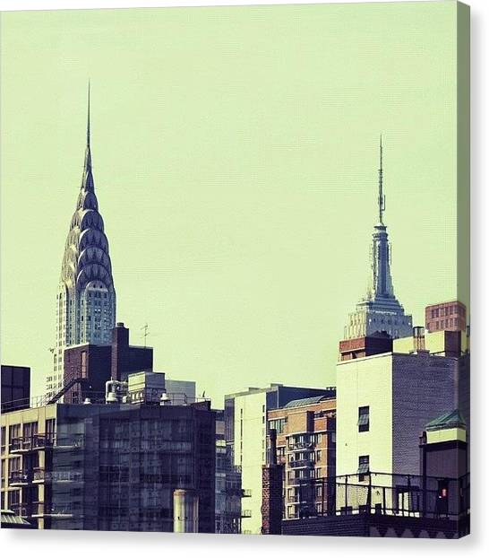 Skylines Canvas Print - Chrysler Bldg. & Empire State Bldg. - Ny by Joel Lopez