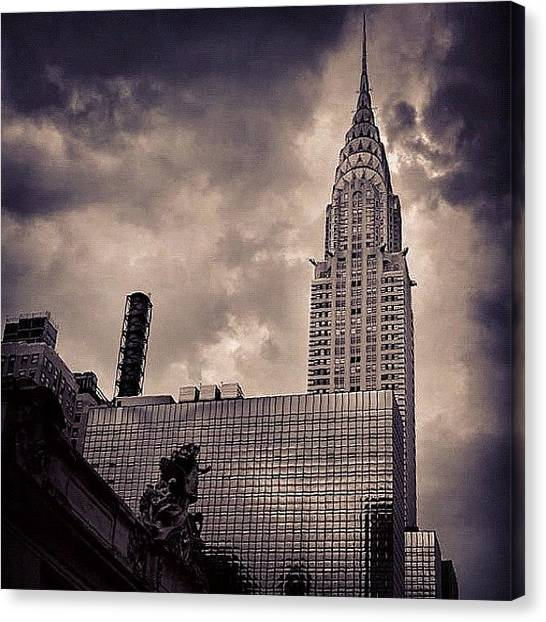 Skyscrapers Canvas Print - Chrysler Bldg. - New York by Joel Lopez