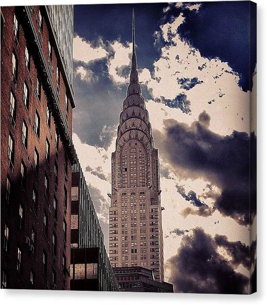 Skyscrapers Canvas Print - Chrysler Building - New York by Joel Lopez