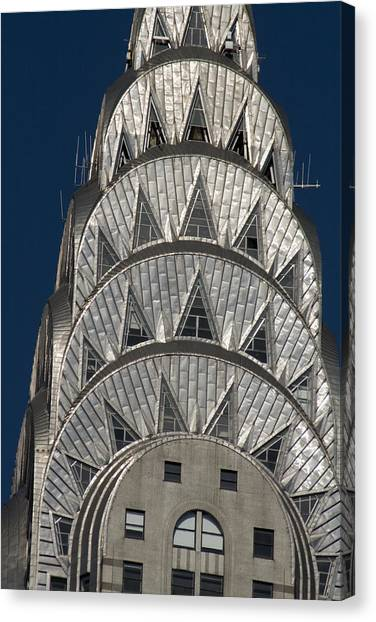 Chrysler Building - New York Canvas Print by Martin Cameron
