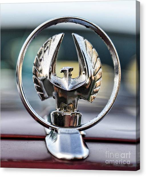 Bruce Lee Canvas Print - Chrysler Imperial Hood Ornament by Paul Ward