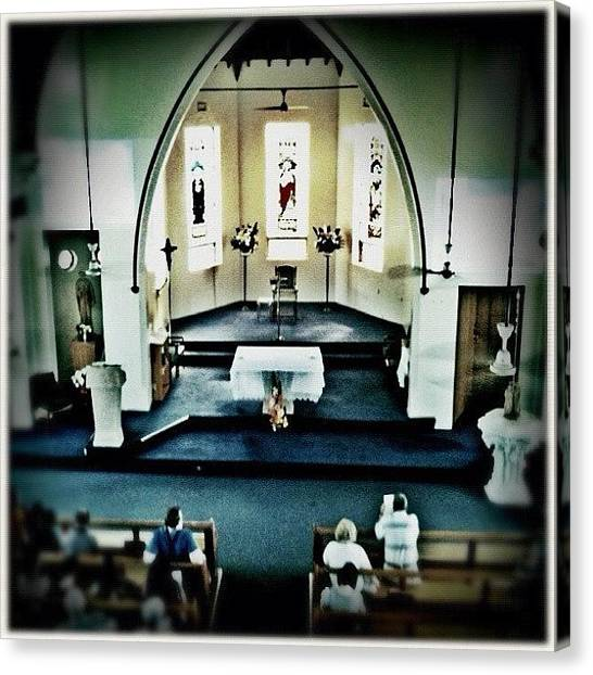 Mercy Canvas Print - #church #christian #catholic #wyd #holy by Luke Fuda