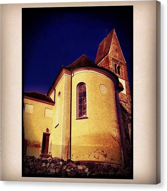 German Canvas Print - Church In Bavaria by Paul Cutright