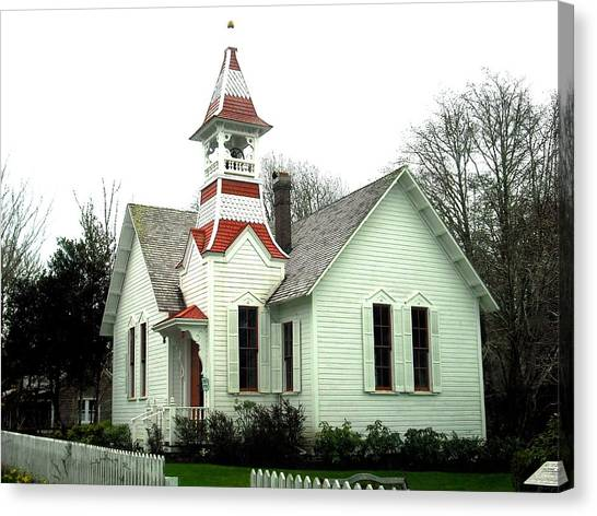 Church In Oysterville Canvas Print