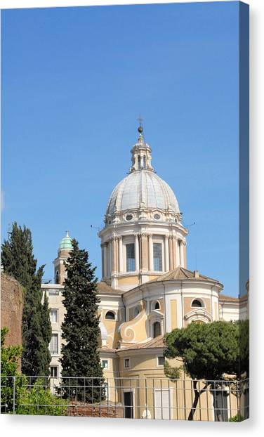 Church In Rome Canvas Print by