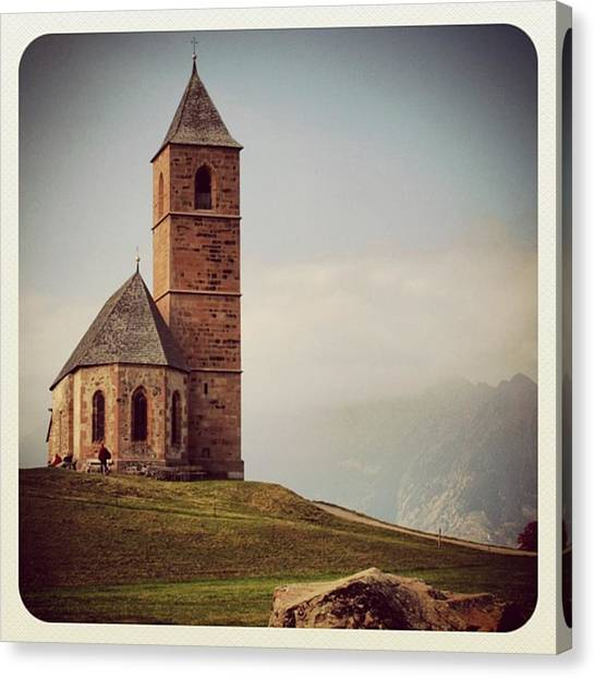 Architecture Canvas Print - Church Of Santa Giustina - Alto Adige by Luisa Azzolini