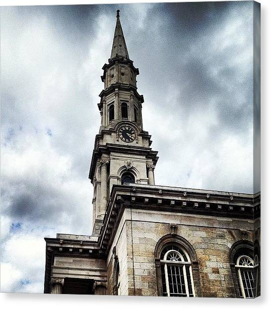 Priests Canvas Print - Church On Temple Street, Dublin by Fotocrat Atelier