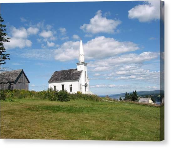 Church On The Hill Canvas Print