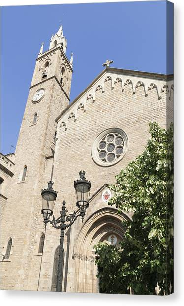 Church Parroquia De La Purissima Concepcio Barcelona Spain Canvas Print by Matthias Hauser