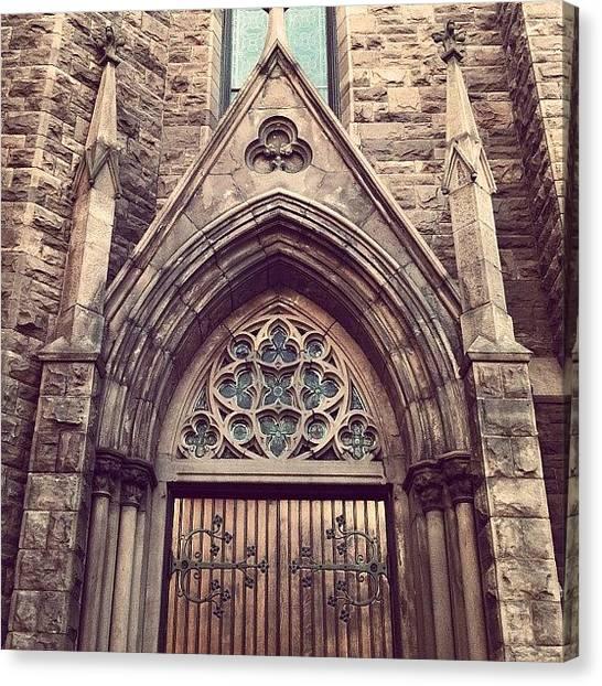 Religious Canvas Print - #church #steeple #points #design by Jenna Luehrsen