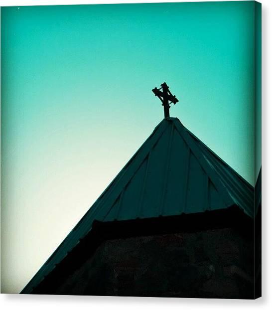 Saskatchewan Canvas Print - #church #steeple #saskatchewan by Michael Squier