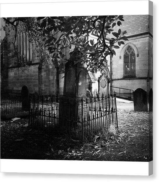 Saints Canvas Print - Churchyard Occupants by Kendall Saint