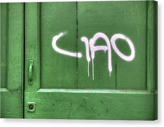 Old Wooden Door Canvas Print - Ciao by Joana Kruse