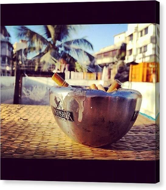 Kingfisher Canvas Print - #cigarette #ashtray #kingfisher by Sahil Gupta