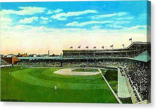 Cincinnati Reds' Redland Field In 1910 Canvas Print by Dwight Goss