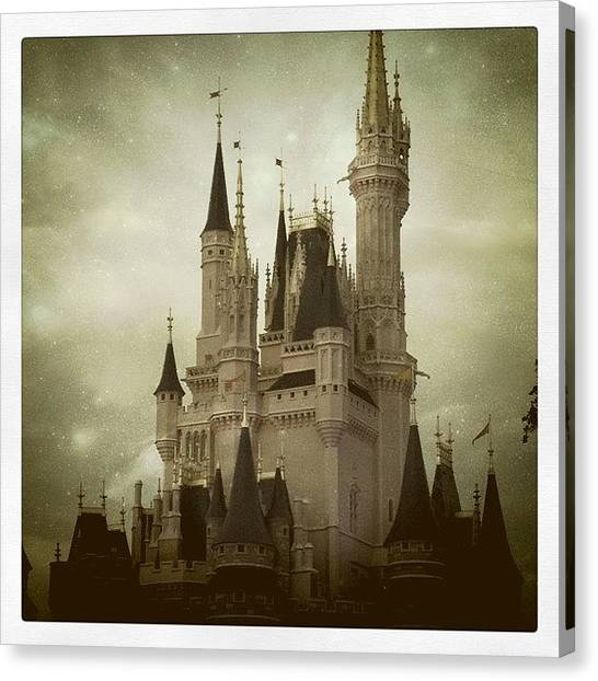 Fairies Canvas Print - Cinderella's Castle by Julie M