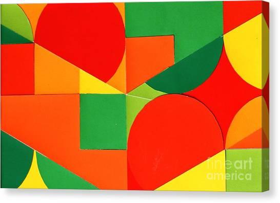 Circles Colorized Canvas Print